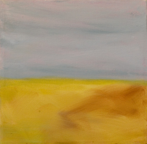 Katie Todd Small Abstract Landscapes, Sold acrylic on canvas