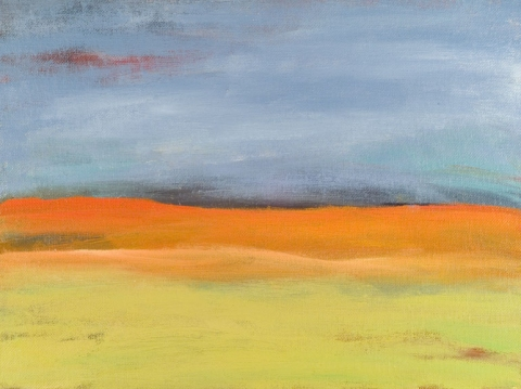 Katie Todd Small Abstract Landscapes, Sold Acrylic on Canvas Panel