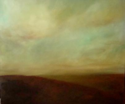 Katie Todd Large Abstract Landscapes, Sold Acrylic on Canvas