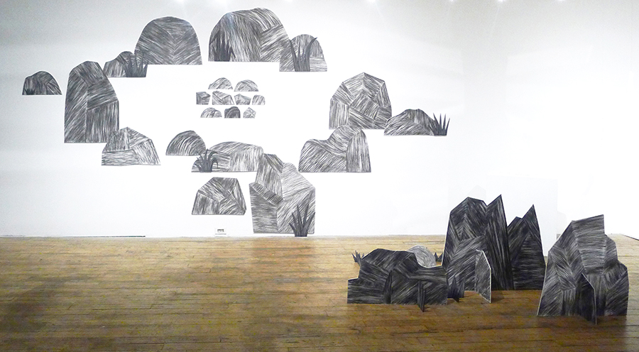 current work Rockscape (installed in Index Art Center, Newark; and Rowan University, NJ)