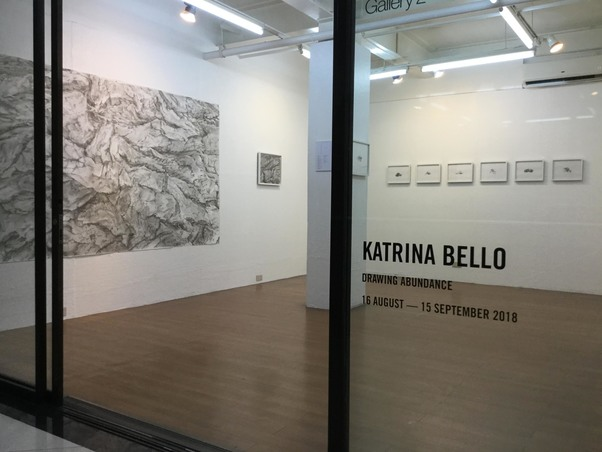exhibition photos Drawing Abundance -  solo exhibition at West Gallery, Quezon City, Philippines,  August-Sept 2018