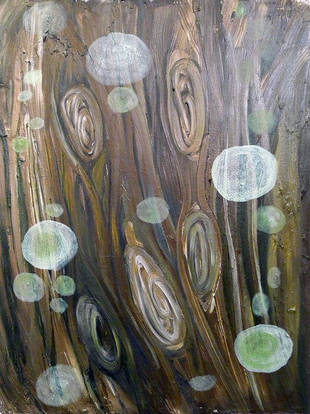paintings Spotted Knotted Bark 2