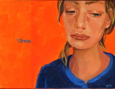 Katy Diamond Hamer Le Lacrime (The Tears) Acrylic and flouresent pigment on canvas