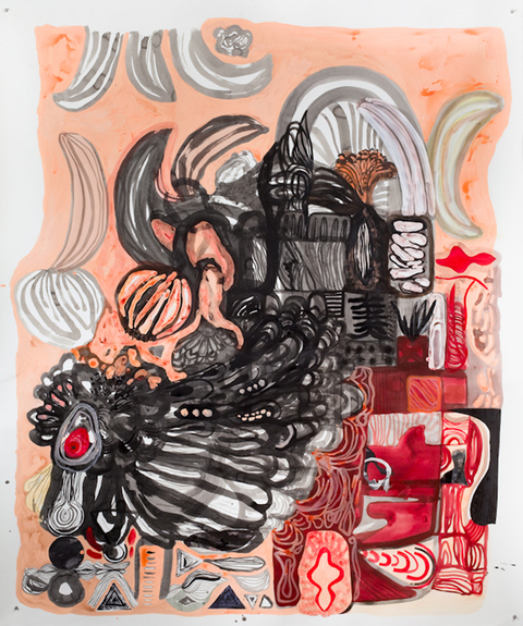 KATY KRANTZ 2009-2010 collage, ink and paint on paper
