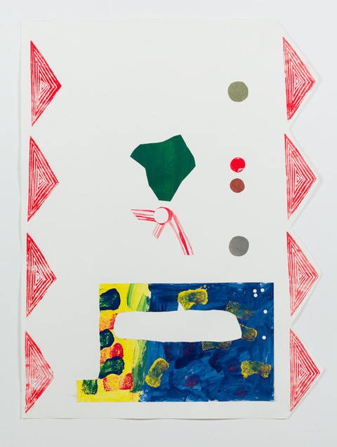 KATY KRANTZ 2009-2010 relief print and collage on paper
