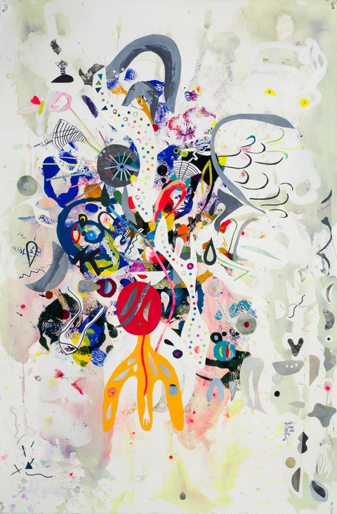 KATY KRANTZ 2009-2010 collage and paint on paper