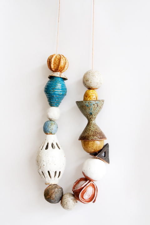 KATY KRANTZ The Gifts glazed ceramic and waxed string