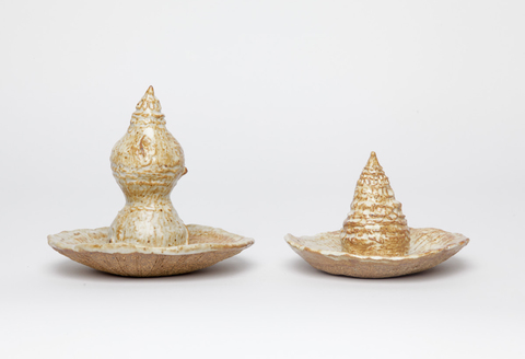 KATY KRANTZ Sculptures high fired ceramic stoneware, glaze