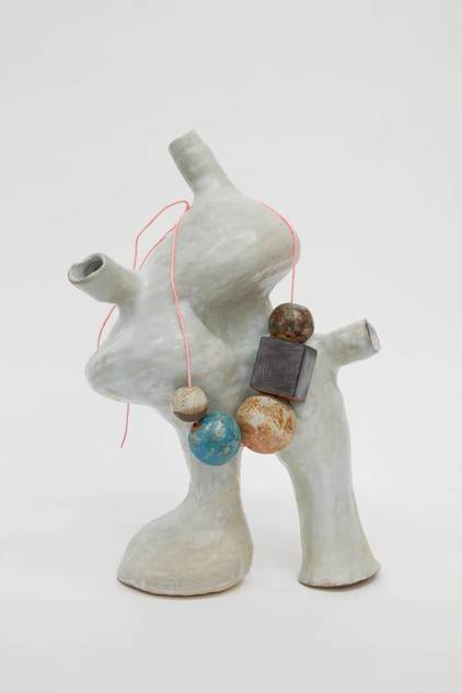 KATY KRANTZ Sculpture Ceramic and painted string