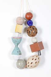 KATY KRANTZ The Gifts (ongoing) glazed ceramic on waxed string