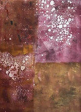 Kay Knight Clarke Cosmos Series monotype