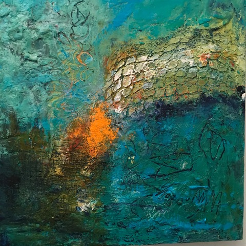 Kathy Burdon abstract series Oil and Cold Wax