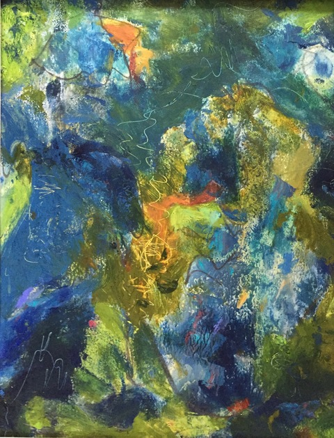Kathy Burdon abstract series Oil