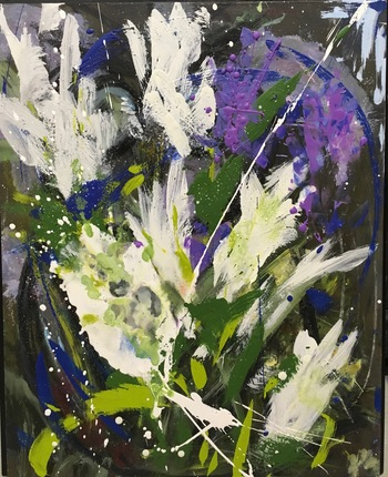 Kathy Cotter GARDEN oil and wax on panel