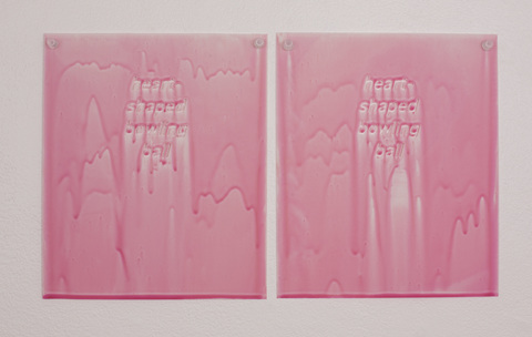 Kelcy Chase Folsom Archive porcelain, crystal push pins, Pepto Bismol
