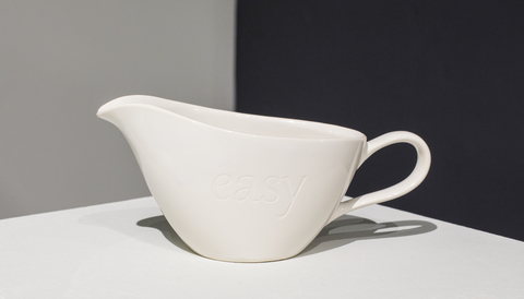 Kelcy Chase Folsom 2016 found and sandblasted gravy boat