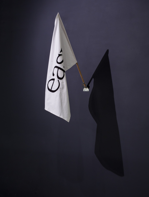Kelcy Chase Folsom Archive cotton flag, oak, steel