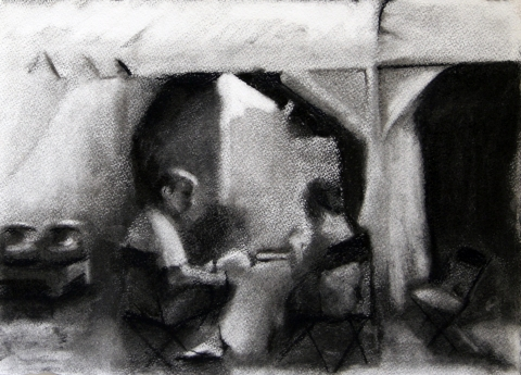 Drawings Charcoal on paper