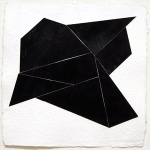 Ken Greenleaf Black Collages Gouache on paper collaged on Shizen paper