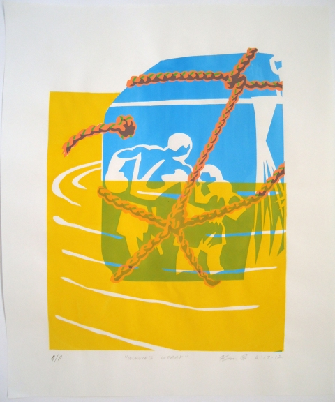 Monhegan Prints screen print | edition of 10 prints