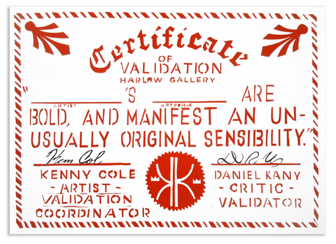Validation Certificates Screen print