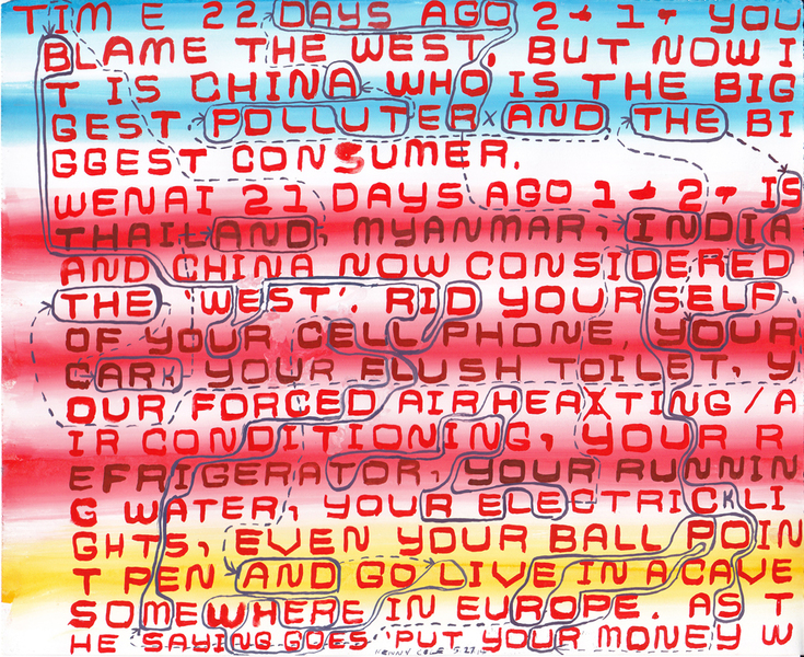 "Drawings 1 - 99 #15 ""Blame the West"""
