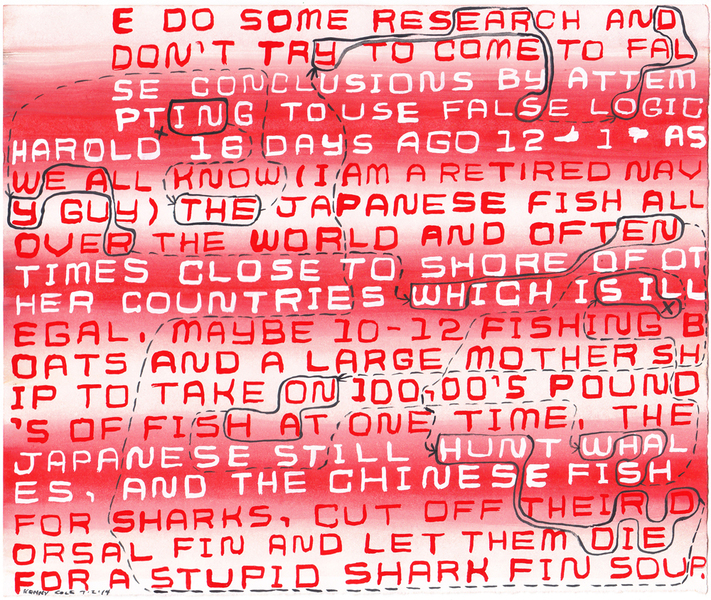 "Drawings 1 - 99 #42 ""Stupid Shark Fin Soup"""