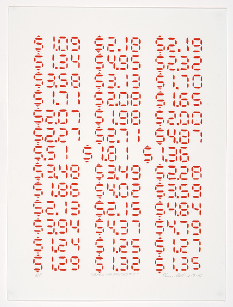 Kenny Cole Gasoline Prices screen print | edition of 27