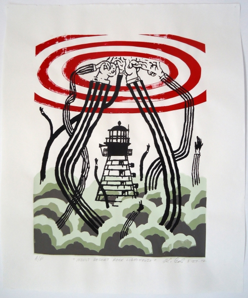 Monhegan Prints Lighthouse