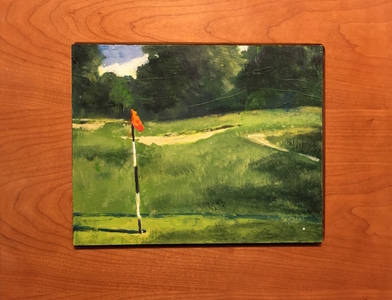 Ken Rush Golf Studies  2016-17 Oil on Board