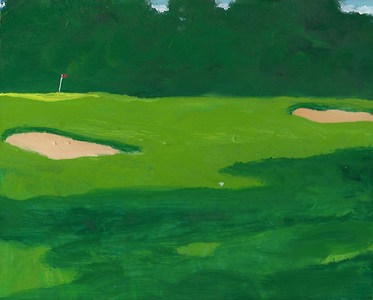 Ken Rush Golf Studies  2016-17 Oil on panel