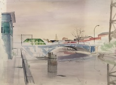 Ken Rush Gowanus Area 1974-2017 Watercolor on paper