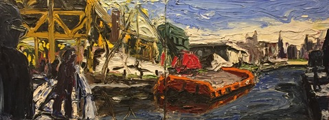 Ken Rush Gowanus Area 1974-2017 Oil on linen