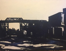 Ken Rush Gowanus Area 1974-2017 Oil on canvas