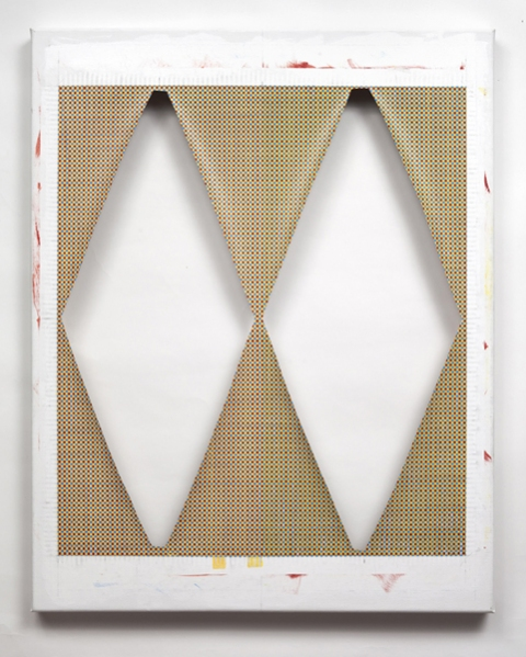 Ken Weathersby Paintings 2006 - Present acrylic & graphite on linen, with removed areas