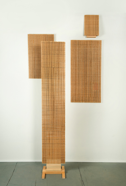 Ken Weathersby Paintings 2006 - Present wood, glue, plastic object, acrylic paint