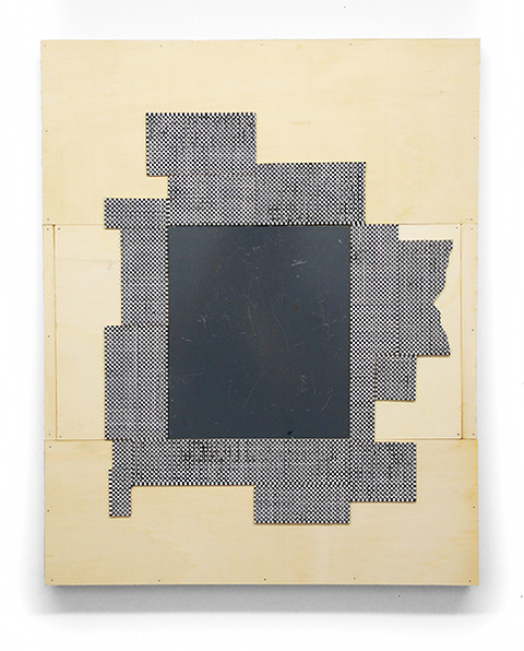 Ken Weathersby So-Called Paintings acrylic & graphite on linen, wood, reversed mirror