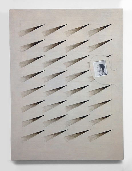 Ken Weathersby Paintings 2006 - Present acrylic & graphite on linen, inset photo