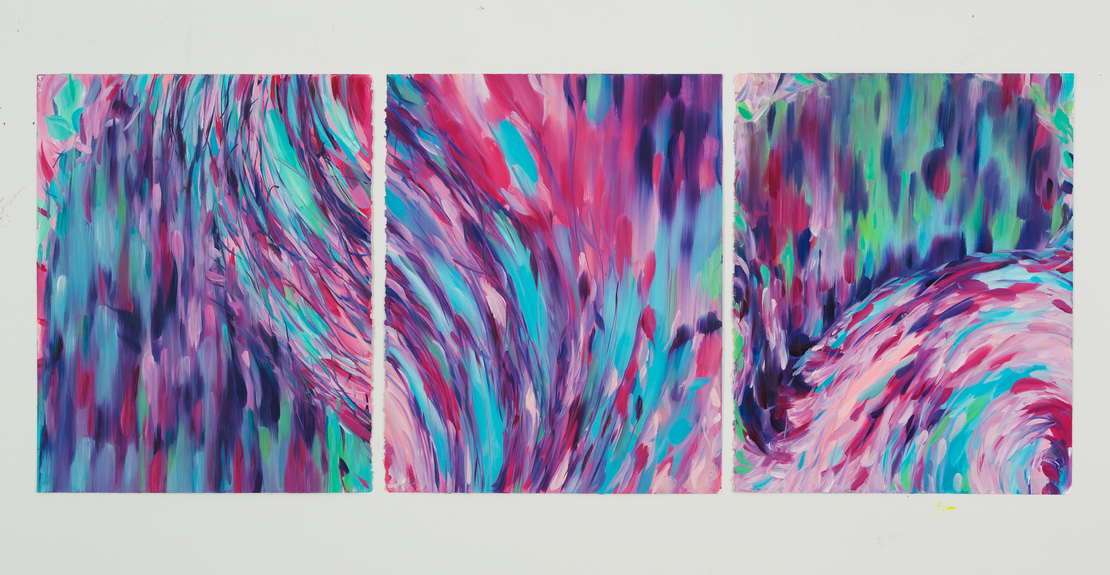 Paintings 2018 - 2019 You Sent Me Flying (triptych)