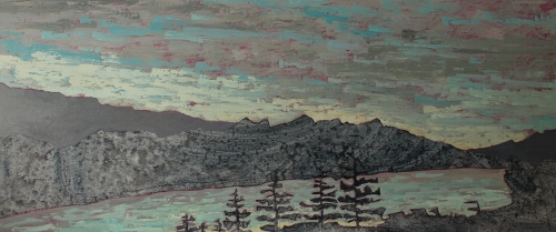Kim Atlin day 2 and explorations  oil on canvas