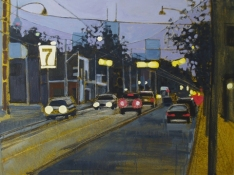 Kim Atlin urban masquerade paintings oil and acrylic on canvas