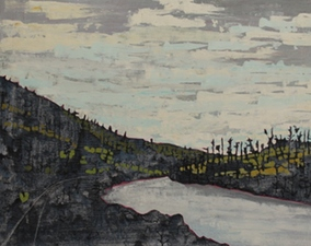 Kim Atlin day 2 and explorations  oil on board