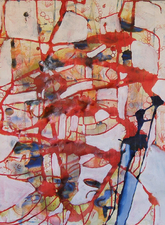 Kimberly DiNatale Ink on paper  Ink and acrylic on paper