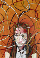 Kimberly DiNatale Portraits on Paper acrylic on paper