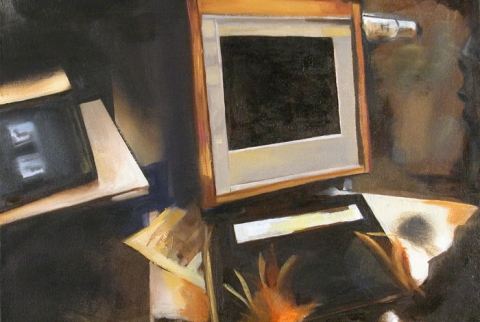 Kimberly Reinhardt Office Paintings  Oil on Canvas