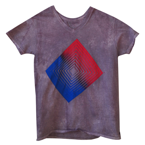 Kimberly Reinhardt T-Shirts 2 Color Gradient Screenprint. Water-based Ink on Logwood Dyed Cotton Tee