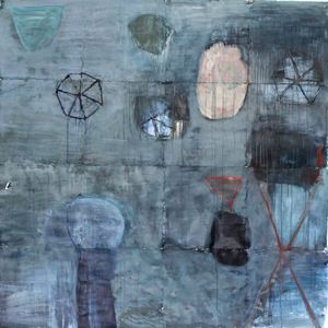 Kitty Winslow 2014-2015 LARGE SCALE PAINTINGS ON PAPER mixed media on paper
