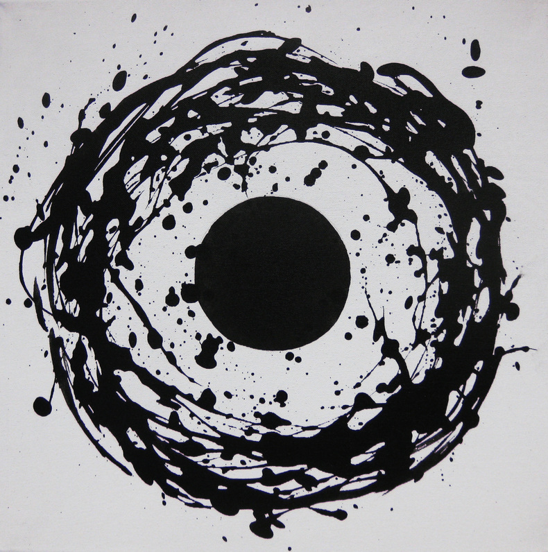 Kiyoshi Otsuka Paintings black and  white acrylic on canvas