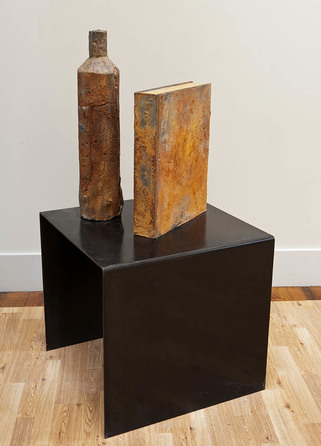 K  R  I  S   C  O  X  sculpture & vessels cast lead, wood, steel