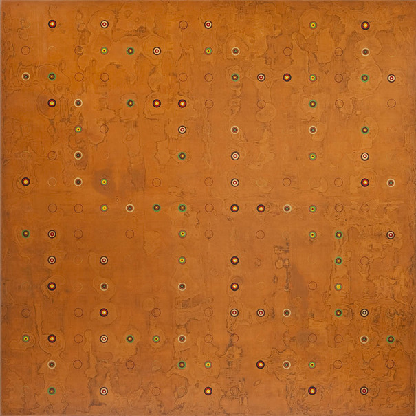 K  R  I  S   C  O  X  constructed paintings : 2001-2014 pigmented wood putty, acrylic, asphalt emulsion, Dorland's wax medium, on wood panel